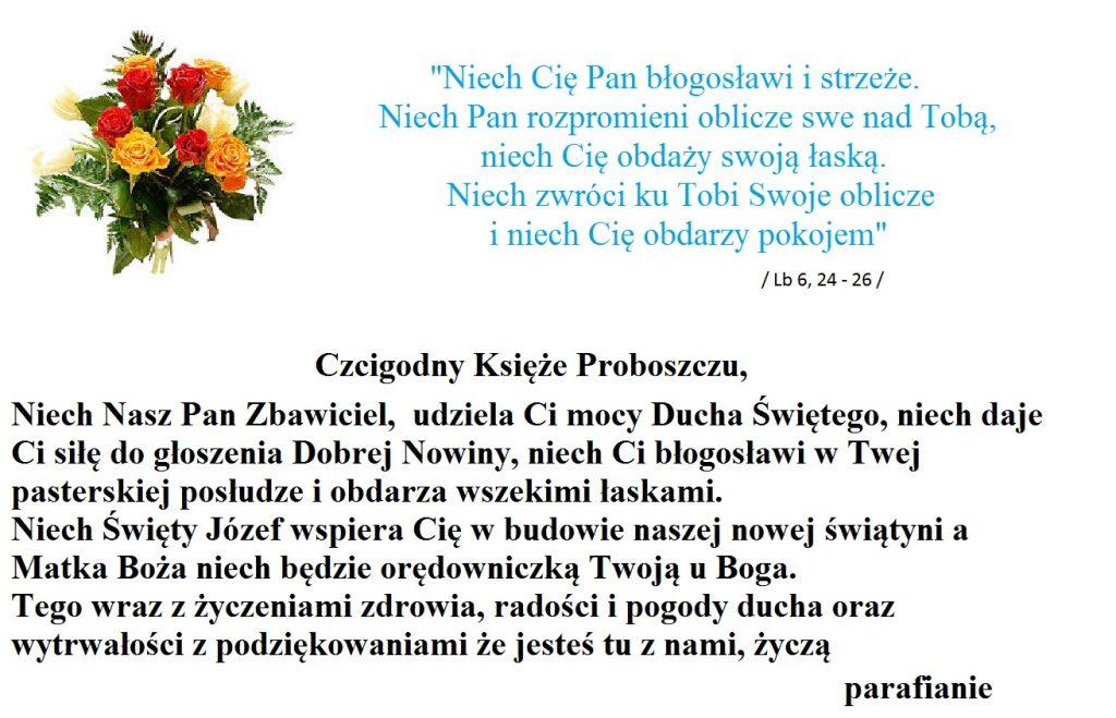 Urodziny Księdza Proboszcza Grzegorza Brodziaka Parafia
