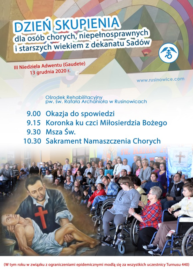 Dzień Skupienia dla osób chorych, niepełnosprawnych i starszych wiekiem