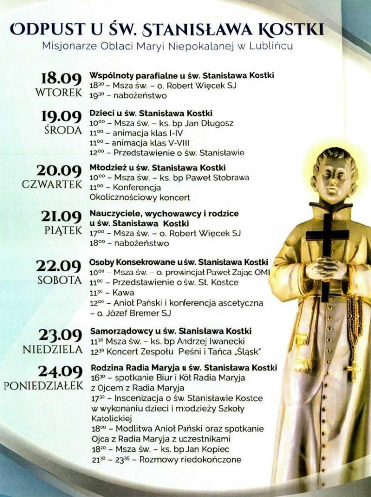 Odpust u Św. Stanisława Kostki w Lublińcu