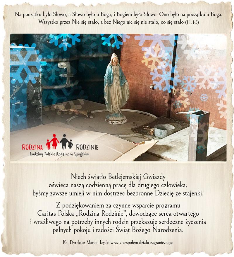 Otrzymane życzenia od Caritas Polska