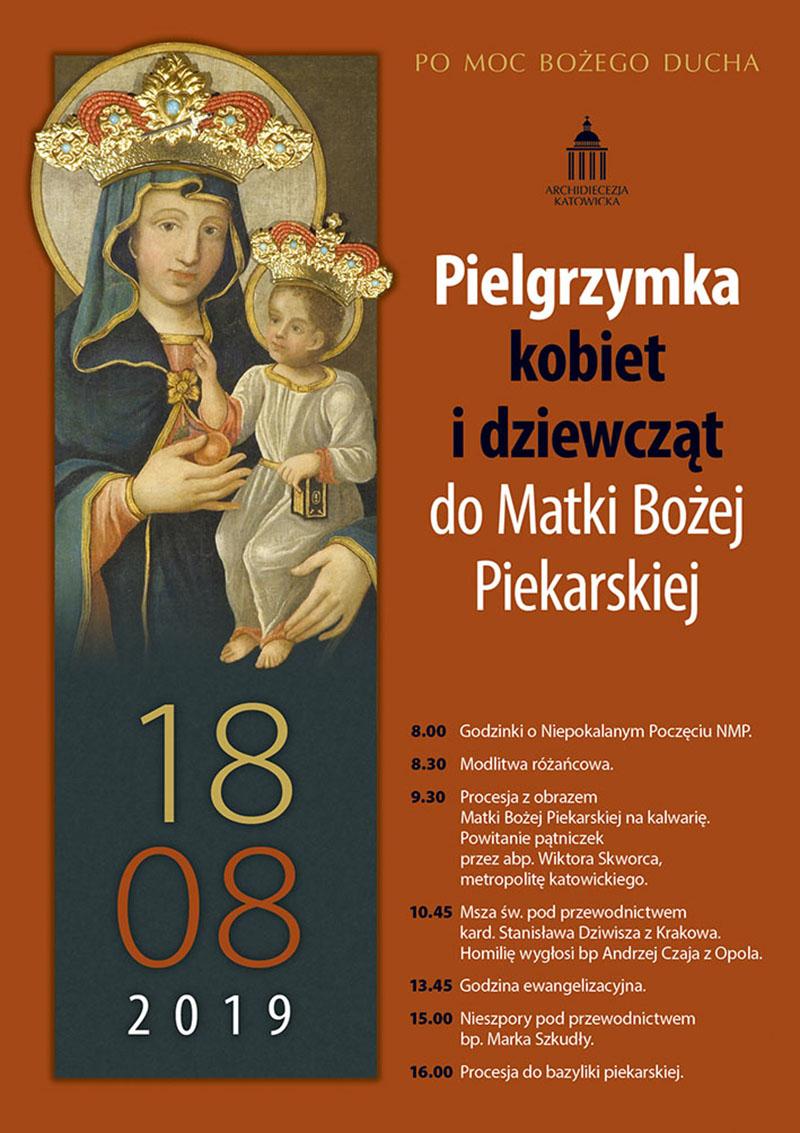 Pielgrzymka kobiet i dziewcząt do Piekar
