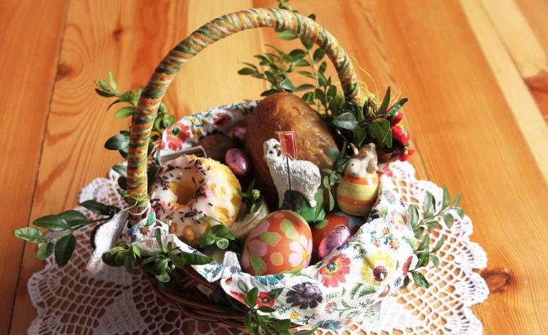 Błogosławieństwo stołu w Niedzielę Zmartwychwstania